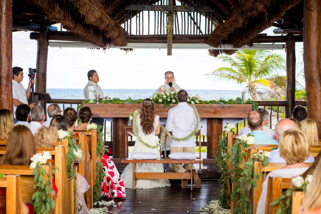 catholic chapel grand sirenis wedding photographer cancun